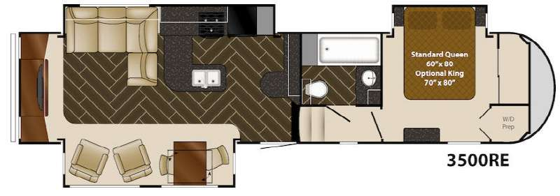 Floorplan - 2014 Heartland Gateway 3500 RE