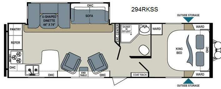 Floorplan   2014 Dutchmen RV Aerolite 294RKSS