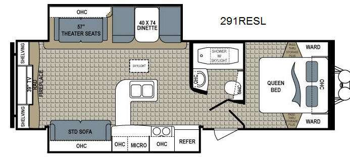 Floorplan - 2014 Dutchmen RV Kodiak 291RESL