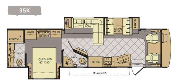 Floorplan - 2014 Fleetwood RV Bounder 35K
