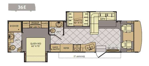 Floorplan - 2014 Fleetwood RV Bounder 36E
