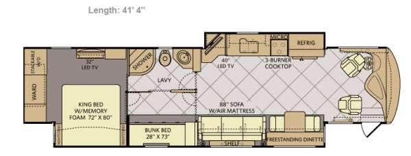 Floorplan - 2014 Fleetwood RV Discovery 40G