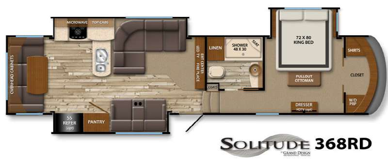New 2014 Grand Design Solitude 368rd Fifth Wheel At