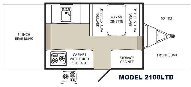 Floorplan - 2014 Palomino Tent Campers 2100 LTD