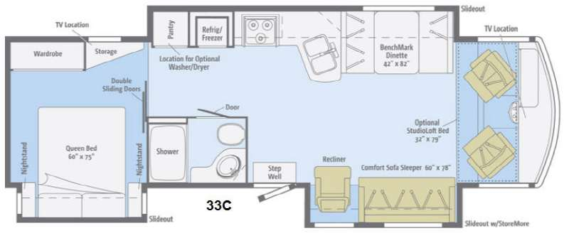 Floorplan - 2014 Winnebago Sightseer 33C