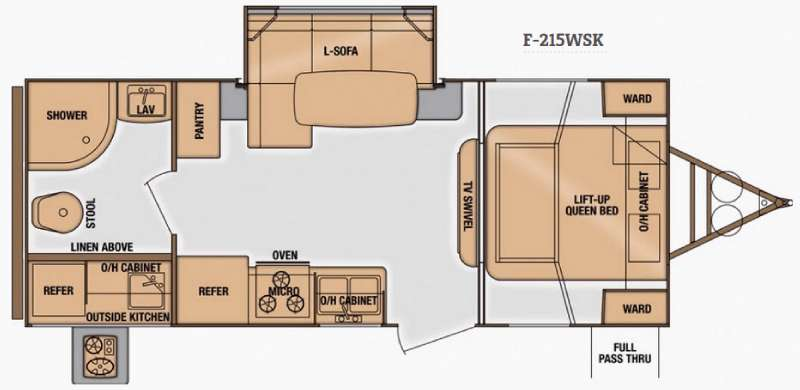 Fun Finder Floor Plans Used 2014 Cruiser Fun Finder F 215wsk Travel Trailer At