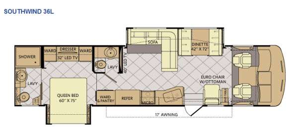 Floorplan - 2014 Fleetwood RV Southwind 36L