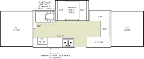 Floorplan - 2007 Fleetwood RV Highlander Niagara