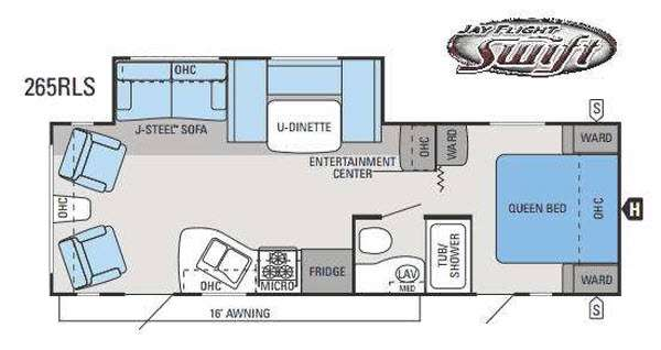 Floorplan - 2014 Jayco Jay Flight Swift 265RLS