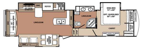 Floorplan - 2014 Forest River RV Blue Ridge 3775RL