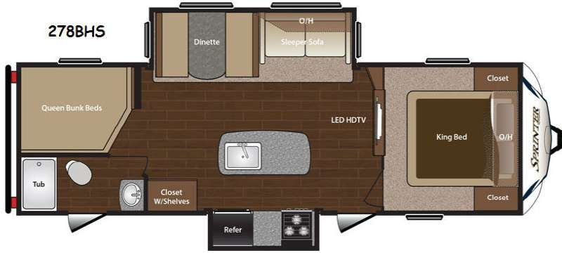 New 2014 Keystone RV Sprinter 278BHS Travel Trailer At