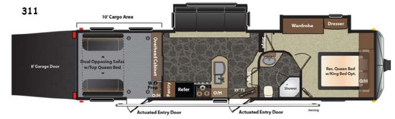 Floorplan - 2014 Keystone RV Impact 311