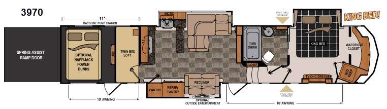 New 2014 dutchmen rv voltage v3970 toy hauler fifth wheel - Toy haulers with front living room ...