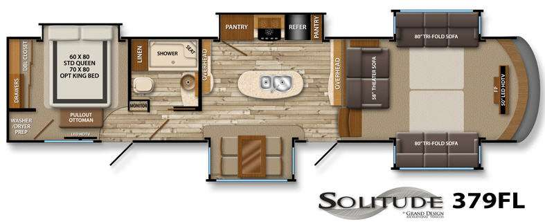 New 2014 Grand Design Solitude 379FL Fifth Wheel At General RV