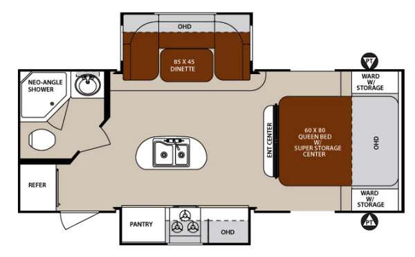 Floorplan - 2014 Forest River RV Surveyor Cadet SC 226RBDS