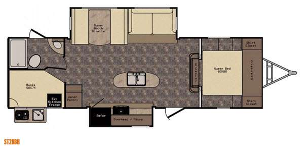 New 2016 CrossRoads RV Sunset Trail Reserve ST28BH Travel