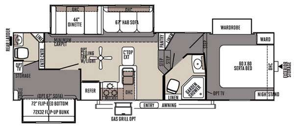 Floorplan - 2015 Forest River RV Rockwood Signature Ultra Lite 8281WS