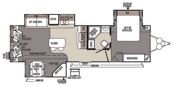 Floorplan - 2015 Forest River RV Rockwood Signature Ultra Lite 8329SS