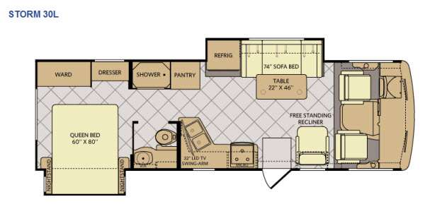 Floorplan - 2015 Fleetwood RV Storm 30L