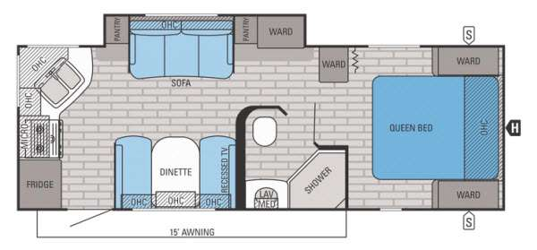 Floorplan - 2015 Jayco White Hawk 24RKS