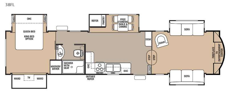 Floorplan - 2015 Forest River RV Cedar Creek 38FL