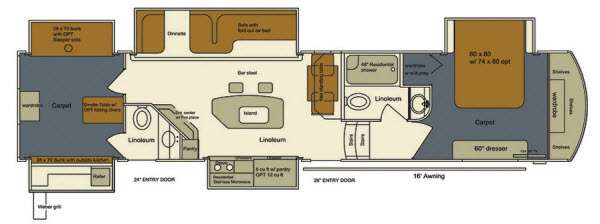 New 2015 Evergreen Rv Bay Hill 385bh Fifth Wheel At