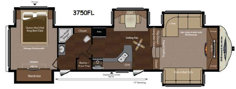 Front Living Room Fifth Wheel Models Endearing New Keystone Rv Montana 3750 Fl Fifth Wheel For Sale  Review Rate Design Ideas