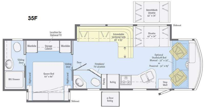 Floorplan - 2015 Itasca Sunstar 35F