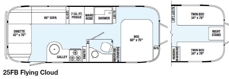 New 2015 Airstream RV Flying Cloud 25FB Travel Trailer at