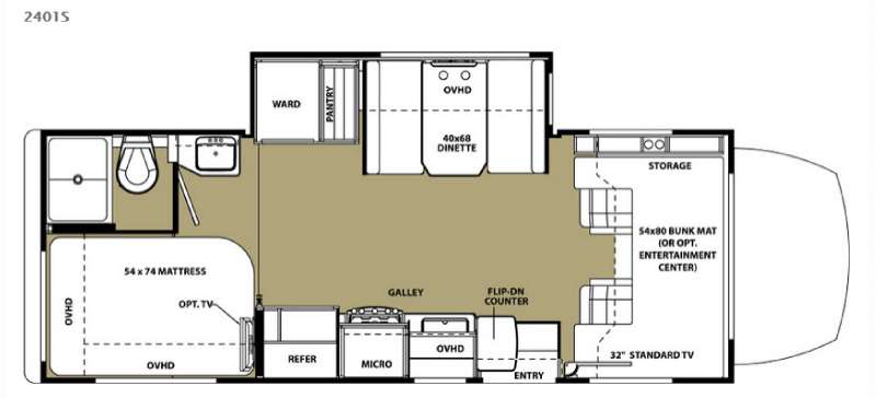 Floorplan - 2015 Forest River RV Forester MBS 2401S