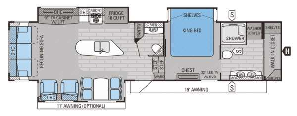 Floorplan - 2015 Jayco Pinnacle 36FBTS