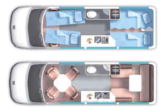 Floorplan - 2015 Roadtrek RS-Adventurous