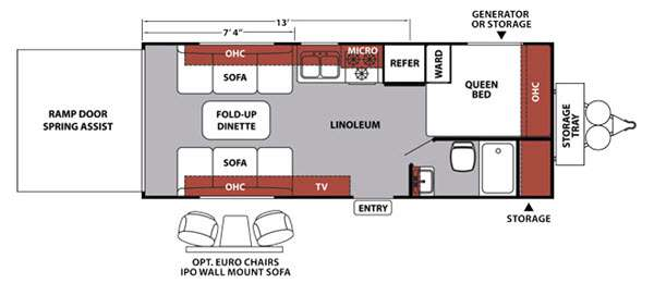 Floorplan - 2015 Forest River RV XLR Nitro 21FQSL