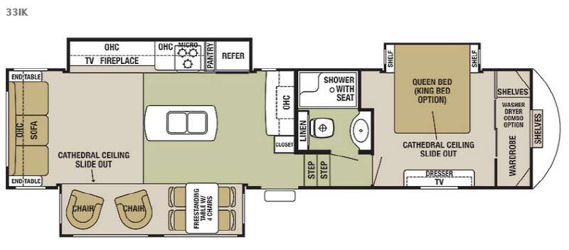 Floorplan - 2015 Forest River RV Cedar Creek Silverback 33IK