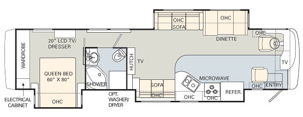 Floorplan - 2007 Monaco Knight 40SKT