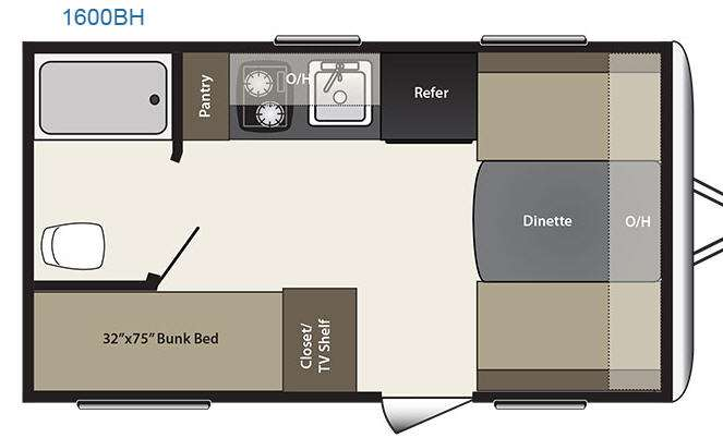 Floorplan - 2015 Keystone RV Summerland Mini 1600BH