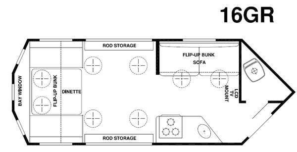 Used 2015 Forest River RV Cherokee Ice Cave 16GR Ice Houses Ice House Floor Plans X on