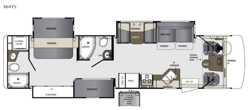 Floorplan - 2015 Forest River RV Georgetown 364TS