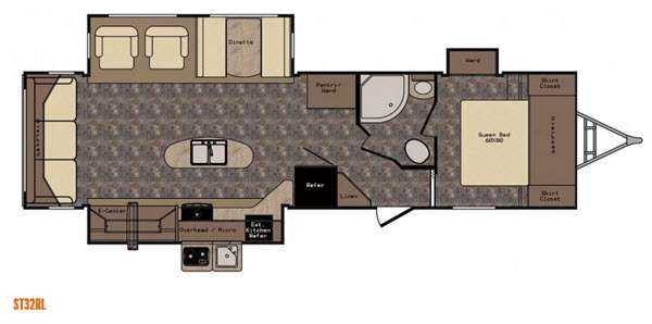 Floorplan - 2016 CrossRoads RV Sunset Trail Reserve ST32RL