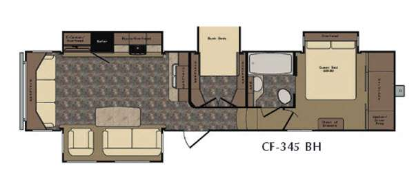 Floorplan - 2016 CrossRoads RV Cruiser CF345BH