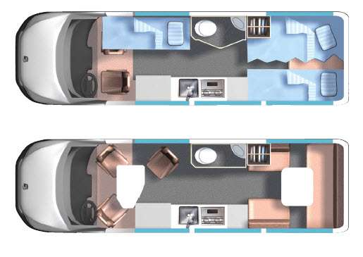 Floorplan - 2015 Roadtrek Adventurous CS