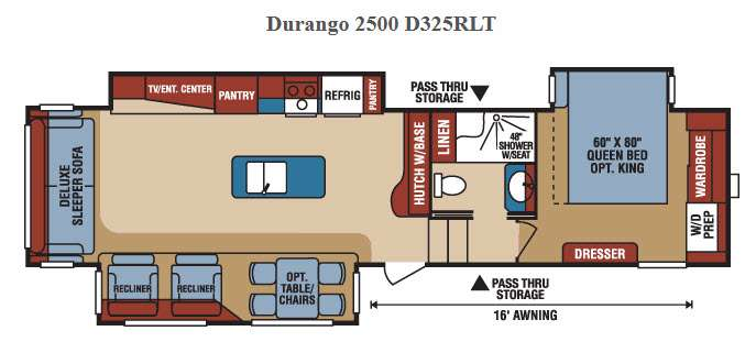 New 2016 Kz Durango 2500 D325rlt Fifth Wheel At Campers