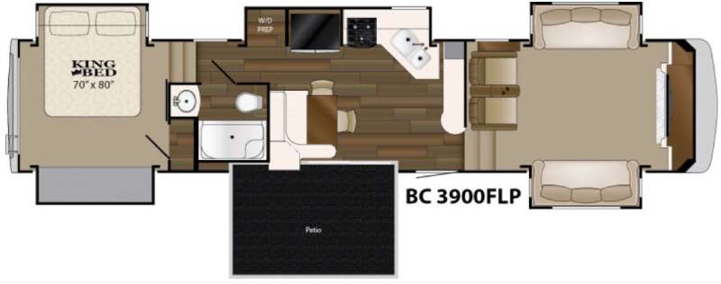 Floorplan - 2016 Heartland Big Country 3900 FLP