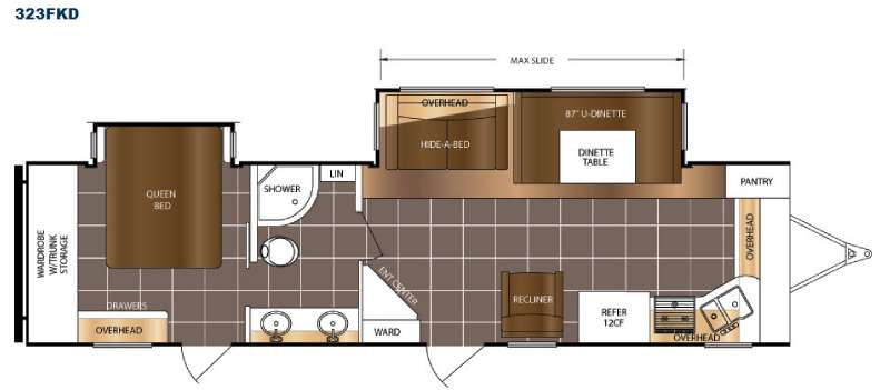 Floorplan - 2016 Prime Time RV LaCrosse 323FKD