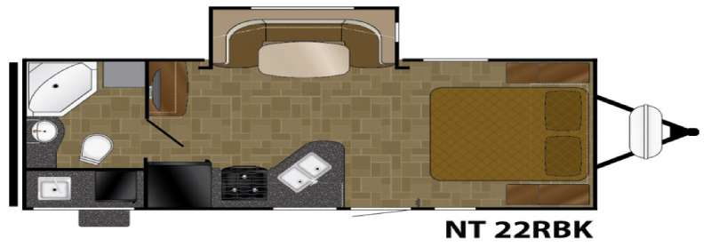 Floorplan - 2016 Heartland North Trail 22RBK