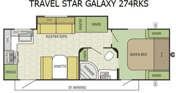 Floorplan - 2016 Starcraft Travel Star Galaxy 274RKS