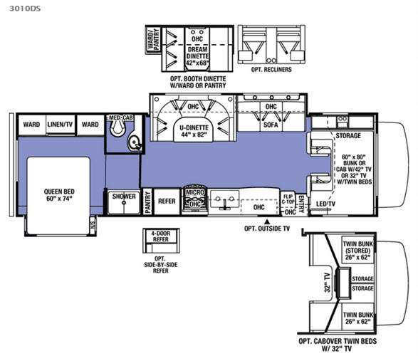 Rv Floor Plans Class C: New 2016 Forest River RV Sunseeker 3010DS Ford Motor Home