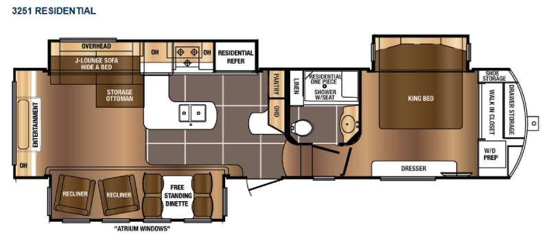 Floorplan - 2016 Prime Time RV Sanibel 3251