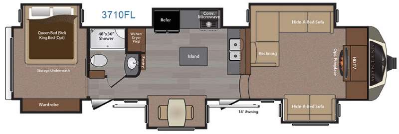 New 2016 Keystone Rv Montana 3710 Fl Fifth Wheel At