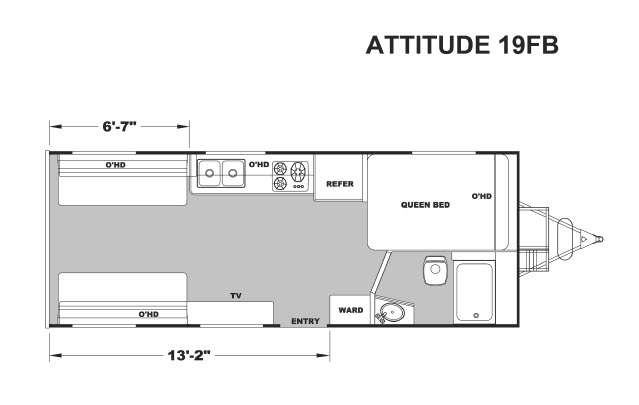 2017 Attitude Toy Hauler Floor Plans